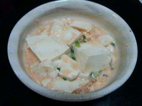 めんたいこ豆腐