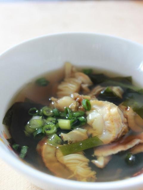 ホタテのわかめスープ