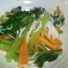 蒸し野菜をさっぱりと♪小松菜としらすの酢の物