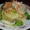 一足先に春の味♪菜の花のクリームスパゲッティ―