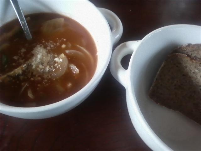玉ねぎとベーコンのトマトスープ♪